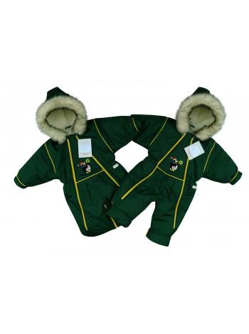 Комбинезон-трансформер зимний цвет: т.зеленый (пингвин)