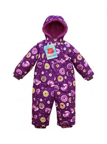 Комбинезон зимний мембранный цвет: Пончики фиолетовый