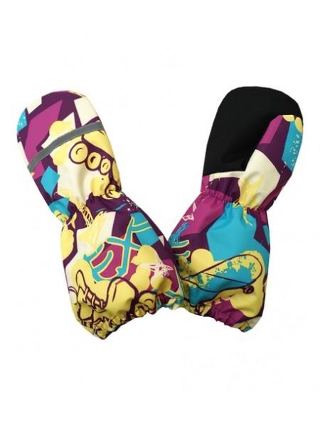 Краги (детские варежки) цвет: Скейт фиолетовый