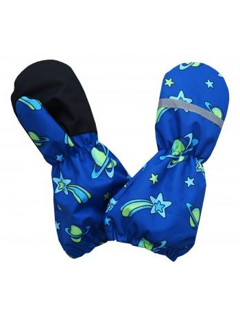 Краги (детские варежки) цвет: Кометы электрик