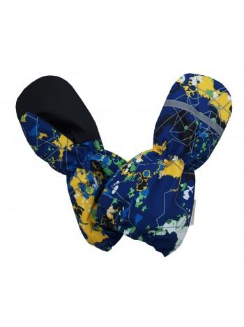 Краги (детские варежки) цвет: Космос синий