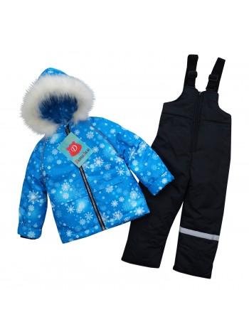 Костюм зимний цвет: Снежинки ярко-голубой