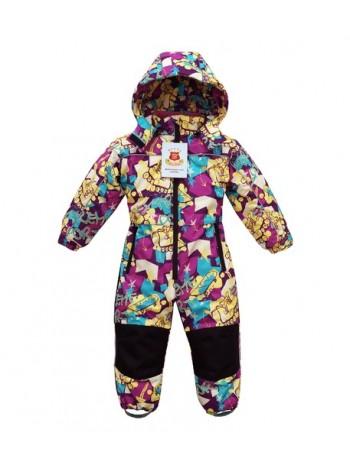 Комбинезон зимний мембранный цвет: Скейт фиолетовый
