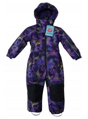 Комбинезон зимний мембранный цвет: Абстракция фиолетовый