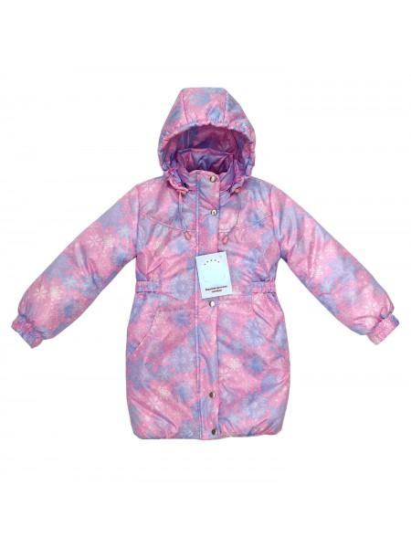 Пальто зимнее цвет: Принт снежинки нежнорозовый