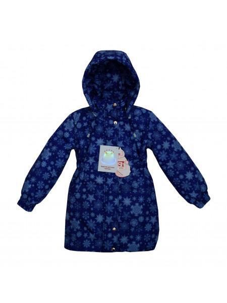 Пальто зимнее цвет: Принт снежинки синий