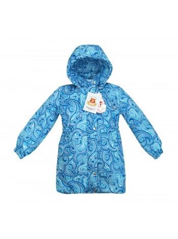 Пальто зимнее цвет: Принт узоры голубой