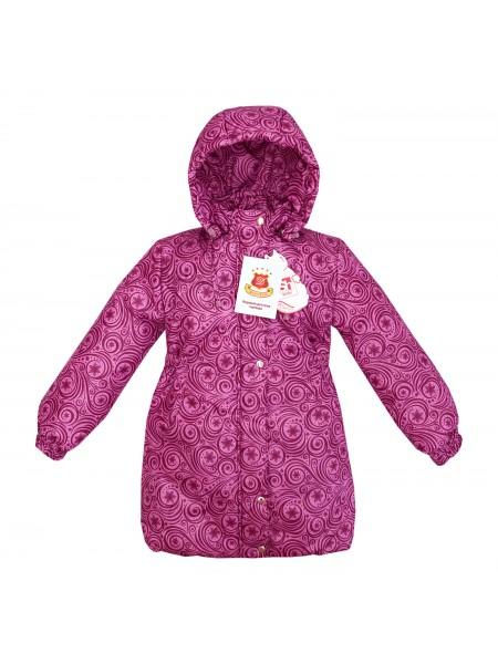 Пальто зимнее цвет: Принт узоры сирень.розовый