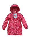 Пальто зимнее цвет: снежинки брусника