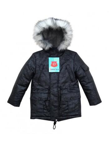 Куртка-Парка зима цвет: Черный/серебро