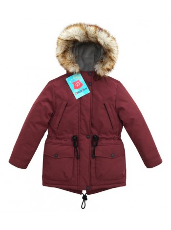 Куртка-Парка зима цвет: Бордовый