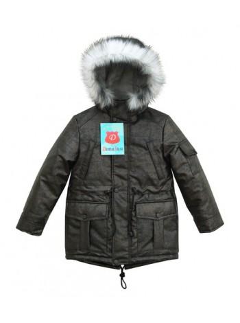 Куртка-Парка зима цвет: Черный/бронза