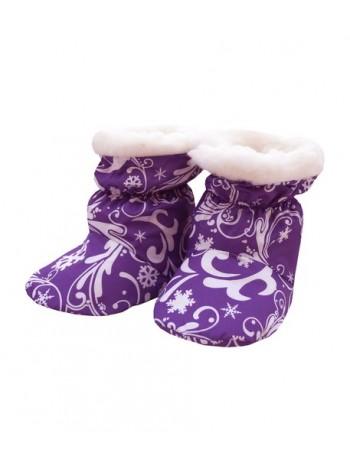 Пинетки овечий чес цвет: Снежный узор св.фиолетовый