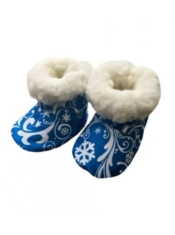 Пинетки овечий чес цвет: Снежный узор синий