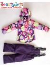 Костюм демисезонный мембранный цвет: Цветы фиолетовые