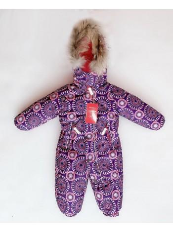 Комбинезон зимний мембранный цвет: Узоры фиолет
