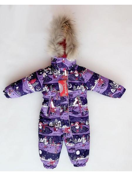 Комбинезон зимний мембранный цвет: зима фиолет
