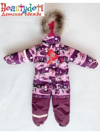 Комбинезон зимний  мембранный цвет: зима розовый