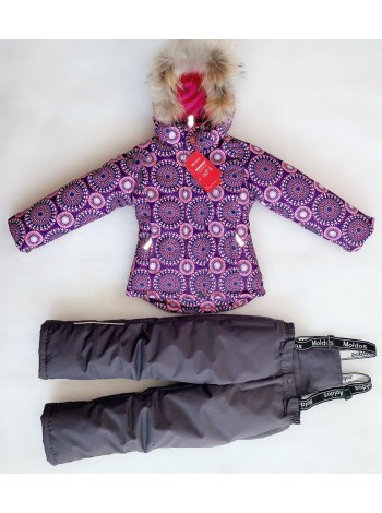 Костюм зимний мембранный цвет: Узоры фиолет