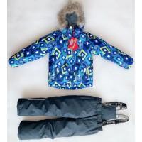 Костюм зимний мембранный цвет: Ромбы синий