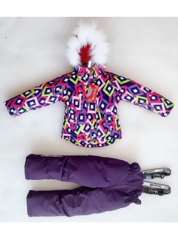 Костюм зимний мембранный цвет: Ромбы фиолет