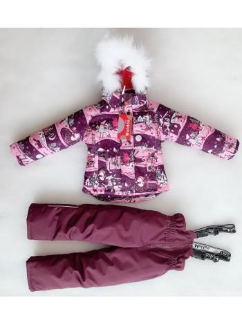 Костюм зимний мембранный цвет: Зима розовый