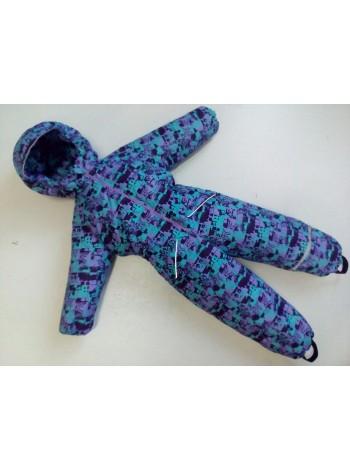 Комбинезон демисезонный мембранный цвет: Мозаика фиолет