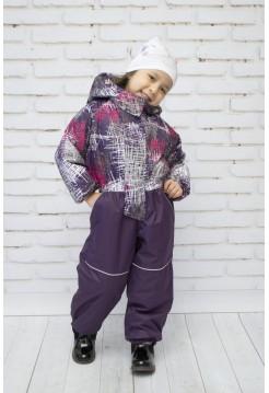Комбинезон демисезонный цвет: Фиолет штрихи