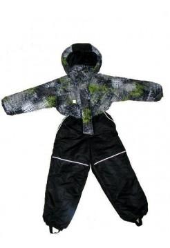 Комбинезон демисезонный цвет: Салат-черный штрихи