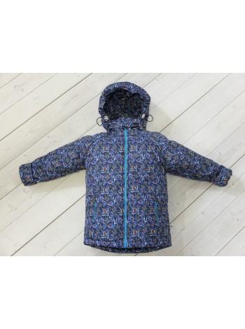 Куртка демисезонная цвет: ромбы синий