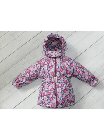Куртка демисезонная цвет: бордо-бирюза