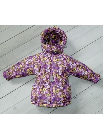 Куртка демисезонная цвет: фиолет цветы