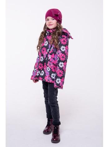 Куртка косуха цвет: Цветы черные