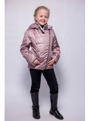 Куртка косуха цвет: Розовый перламутр