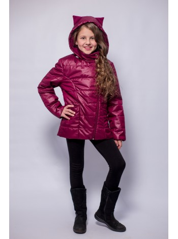 Куртка косуха цвет: Бордо