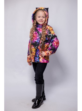 Куртка косуха цвет: Цветы
