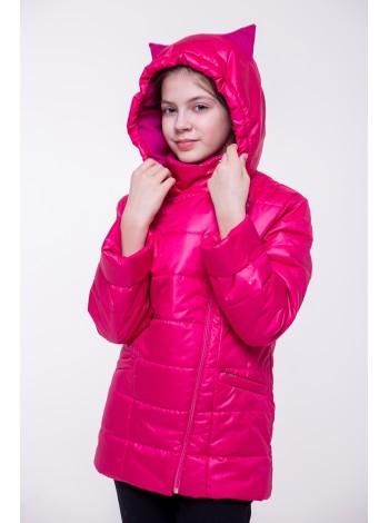 Куртка косуха цвет: Малина