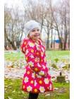 Пальто демисезонное мембранное цвет: Малина  ромашки