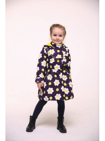 Пальто демисезонное мембранное цвет: Фиолет ромашки