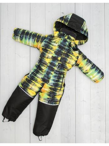Комбинезон зимний цвет: неон желтый