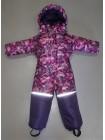 Комбинезон зимний цвет: Малина  шары /фиолет