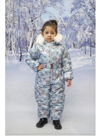 Комбинезон зимний цвет: снежинки серебро