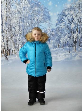 Комплект зимний цвет: Бирюза/черный