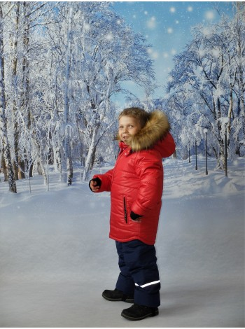Комплект зимний цвет: Красный/синий
