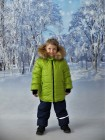 Комплект зимний цвет: Салат/синий
