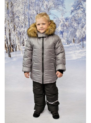 Комплект зимний цвет: Серый/черный