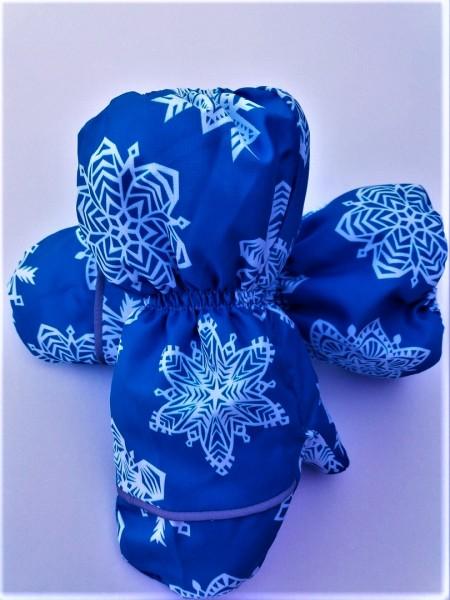 Краги зимние мембранные цвет: Белые кристаллы голубой