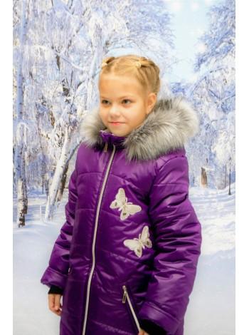 Пальто зимние цвет: Баклажан