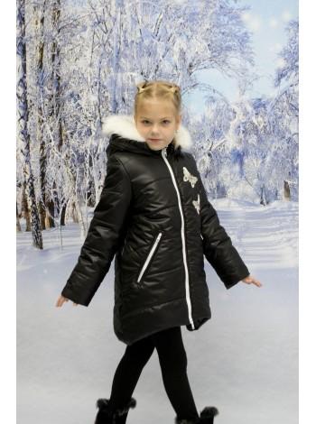 Пальто зимние цвет: Черный/белый