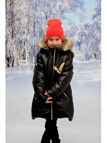 Пальто зимние цвет: Черный/золото